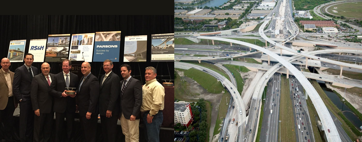 2015 ASBI Bridge Award of Excellence. Section 5 Palmetto SR 826/836 Interchange Bridges